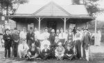 Archibald Beatty and cricket team, probably South Yarra, Victoria