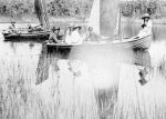 Peggy Beatty on sailing dinghy at Anglesea, Victoria c. 1922