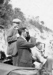 Archibald Beatty; Pip Powell and Lynn Kirk in car on beach, c. 1923