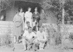 Hilda Forster; Constance Beatty; Harold Beatty; Stan Forster; Gordon Forster. Carron Vale, Mooroolbark c. 1924