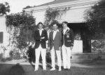 Harold Beatty; Archibald Beatty and Doug Perdriau (?) outside Carron Vale, Mooroolbark, Victoria c. 1925