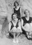 Hilda Forster; Peggy Beatty: Winifred Blair, on the beach at Mentone (?) c. 1925