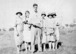Harold Beatty with dead snake, Carron Vale, Mooroolbark c. 1926