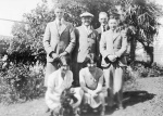 Back row: Harold Beatty; Archibald Beatty; Lynn Kirk; David Hawthorne at carron Vale, Mooroolbark, 1927