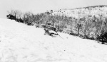 Harold Beatty skiing at Mount Feathertop, Victoria, winter 1927