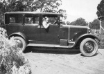 Peggy Beatty in her new car 1927