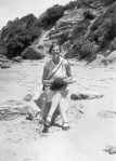 Peggy Beatty on beach at Pt. Lonsdale, c. 1928