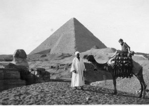Hilda Forster in Egypt on the way to England late 1929