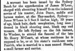 James McLean in NSW Police Gazette 14 June1858
