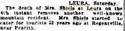 Mrs Shiels death SMH 10 Apr 1911