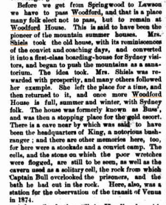 Mrs Shiels Woodford House Sydney Mail 12 Dec 1896