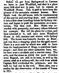 Mrs Shiels Woodford House Sydney Mail 12 Dec 1896