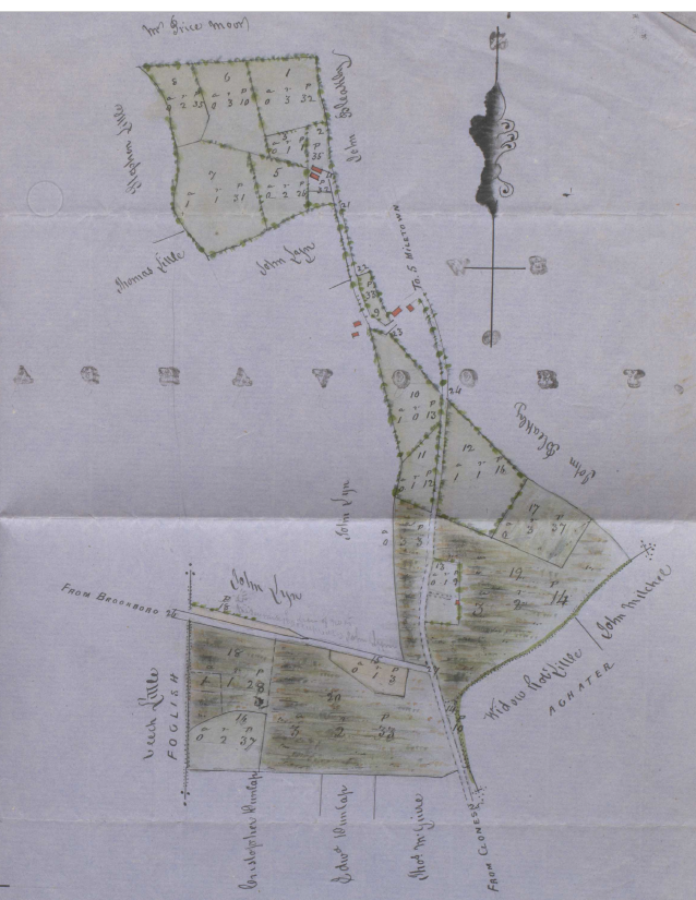 James Beatty's land, Aghavoory townland 1863